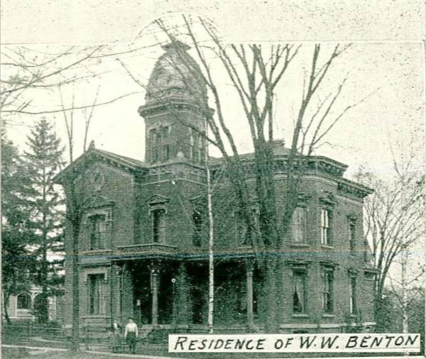Will Benton Home IHS 2nd Class - Dies March 1888