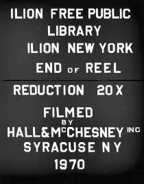 Ilion Library Microfilm - Ilion Sentinel