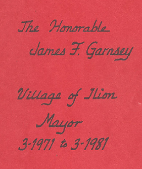 The Honorable James F. Garnsey Booklet