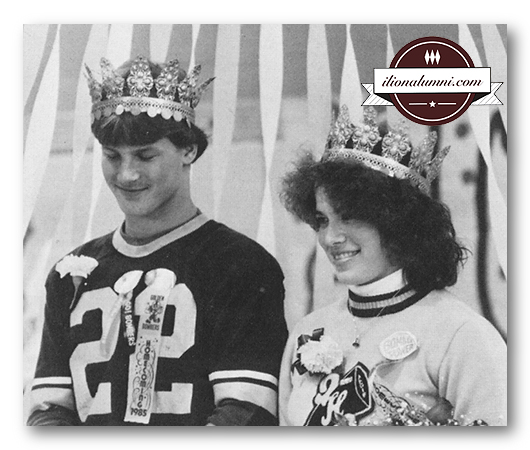 Homecoming King Jeff LaGase and Queen Angie (Bottini) Sayles Class of 1986